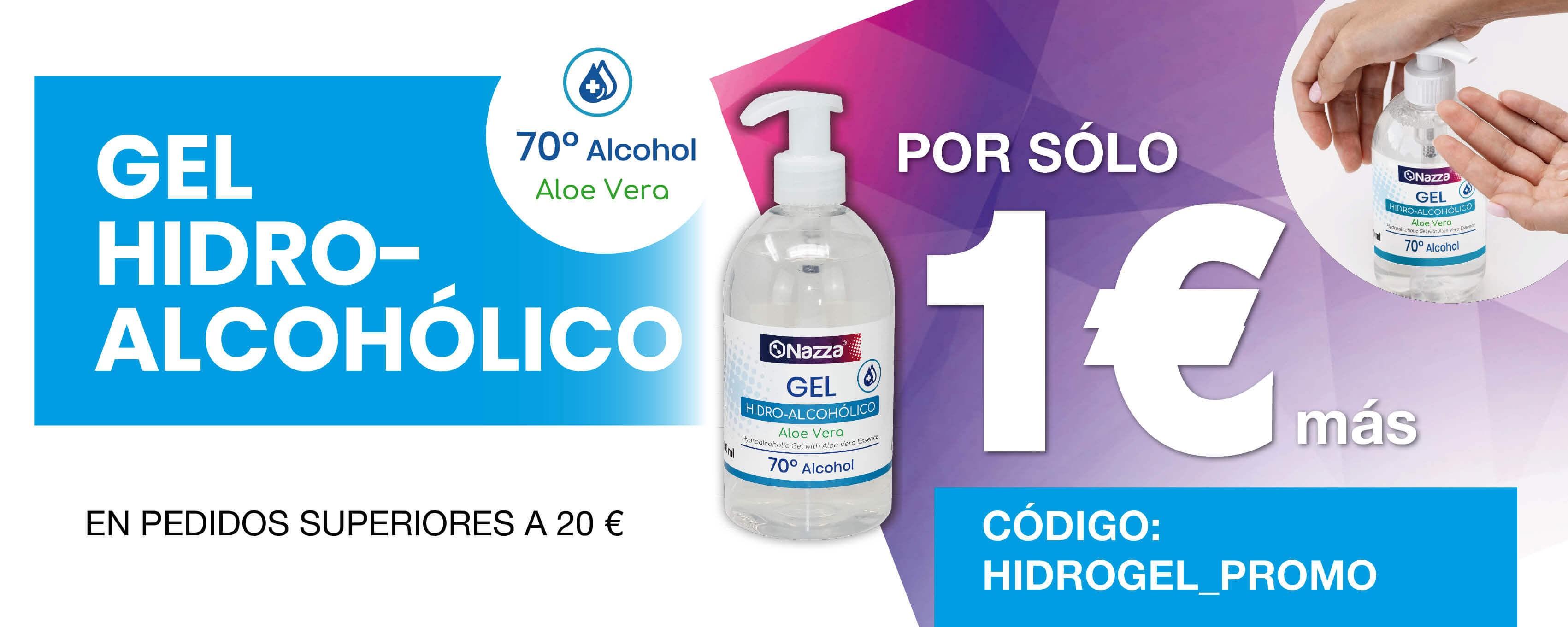 Promoción Gel Hidroalcohólico 1 €