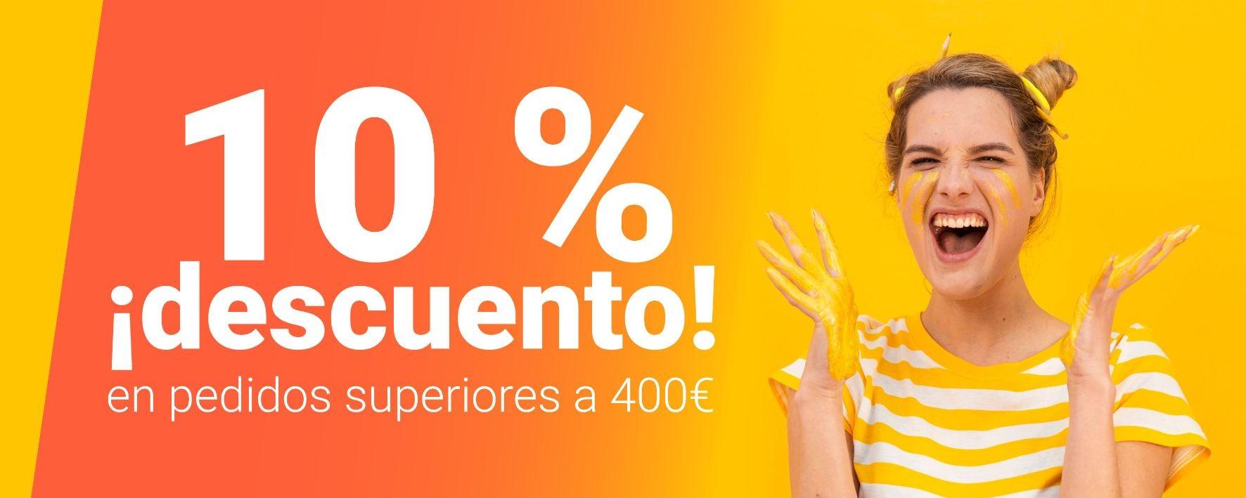 Con ePinturas, ¡llévate un 10% de descuento en pedidos superiores a 400 €!