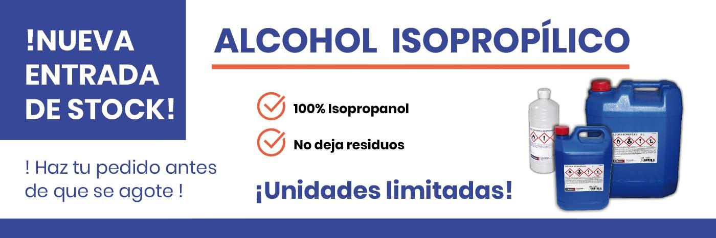 Alcohol Isopropílico por tiempo limitado